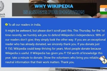 Wikipedia is asking for Donations from Indian readers